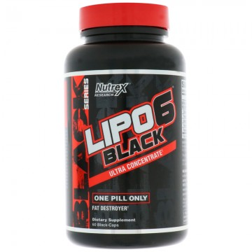 Nutrex Research Lipo6 Black Ultra Concentrate 60 Count