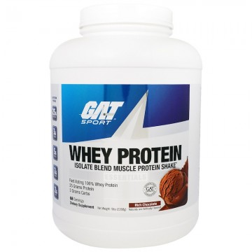 GAT Whey Protein Isolate Blend Muscle Protein Shake 5 lbs (2268 g)