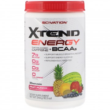 Scivation Xtend Energy Time Released Caffeine + BCAAs  12.3 oz (348 g)