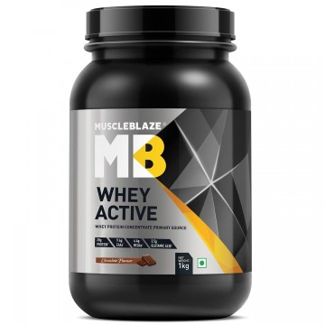 MuscleBlaze Whey Active Protein Supplement Powder - 2.2 lb/ 1 kg 30 Servings
