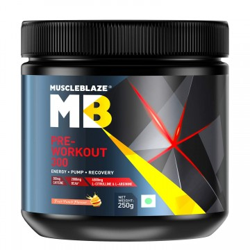 MuscleBlaze PRE Workout 300-0.55 lb 25 servings