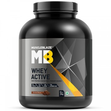 MuscleBlaze Whey Active Protein Supplement Powder - 4.4 lb/ 2 kg 60 Servings