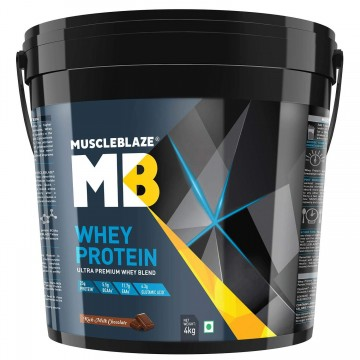 MuscleBlaze 100% Whey Protein - 8.8 lb/ 4 kg 121 Servings