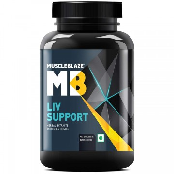 Muscleblaze Liv Formula With Milk Thistle 60 Capsules Unflavoured