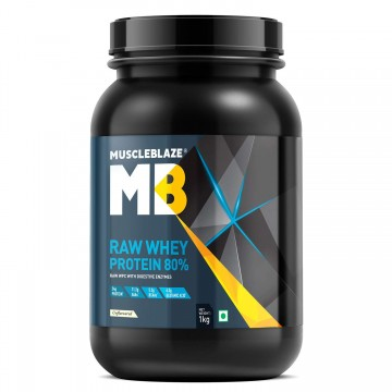 MuscleBlaze Raw Whey Protein - 2.2 lb/ 1 kg 33 Servings